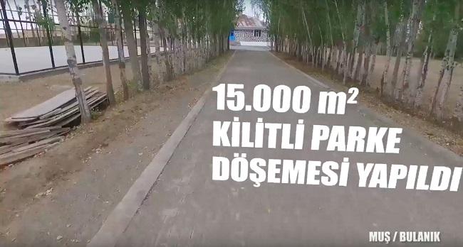 15.000 metrekare Kilitli Parke Döşemesi Yapıldı